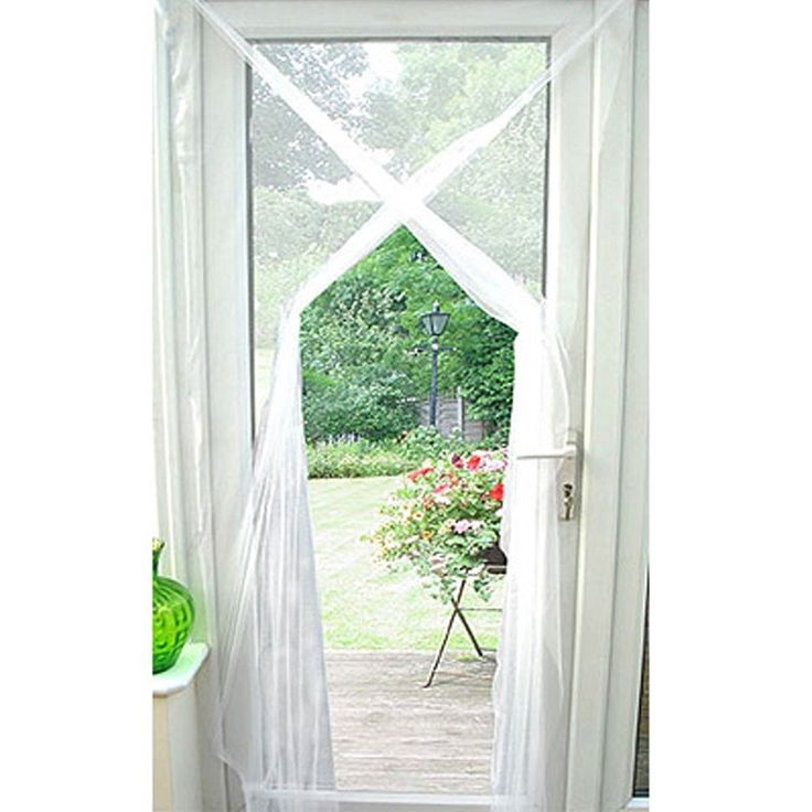 Door screen netting new curtain window insects fly for Door net curtains