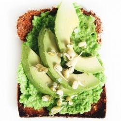 recipe} Spring pea hummus and creamy avocado atop delicious and ...