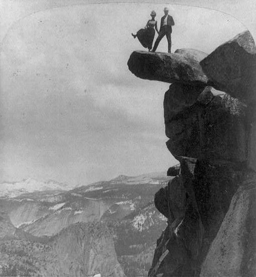 Dancing on Glacier Point, 1902