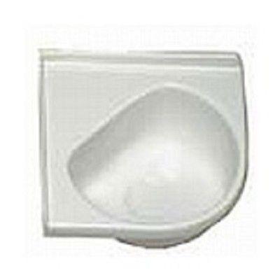 Rv Corner Sink : RV Corner Sink, Lavatory, Plastic, White, 14