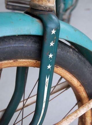 vintage - blue bike