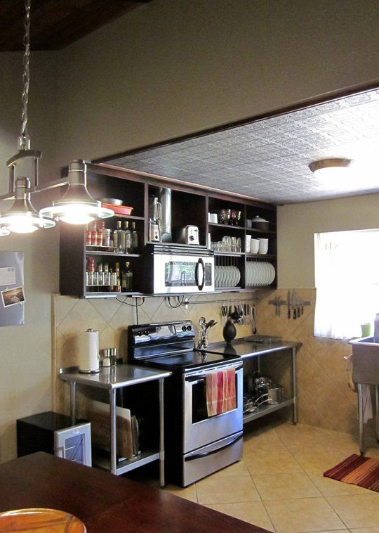 Gwendolyn 39 s industrial cozy kitchen small cool kitchens 2013 for Cool small kitchens