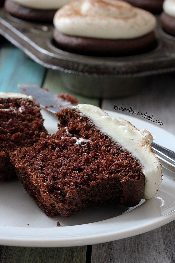 Chocolate Eggnog Cupcakes with Eggnog Cream Cheese Frosting Recipe ...