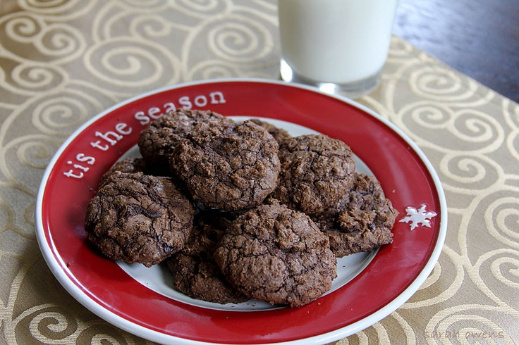 Double Chocolate Crackled Cookies with Ancho Chile and Cinnamon