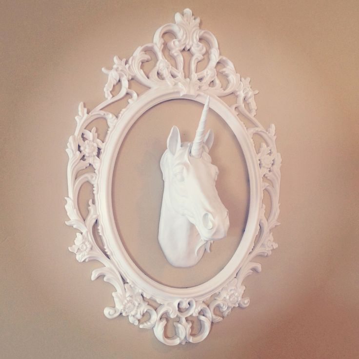 White faux taxidermy resin unicorn wall mount www whitefauxtaxidermy