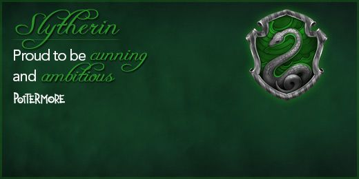 Pottermore Slytherin Twitter Header