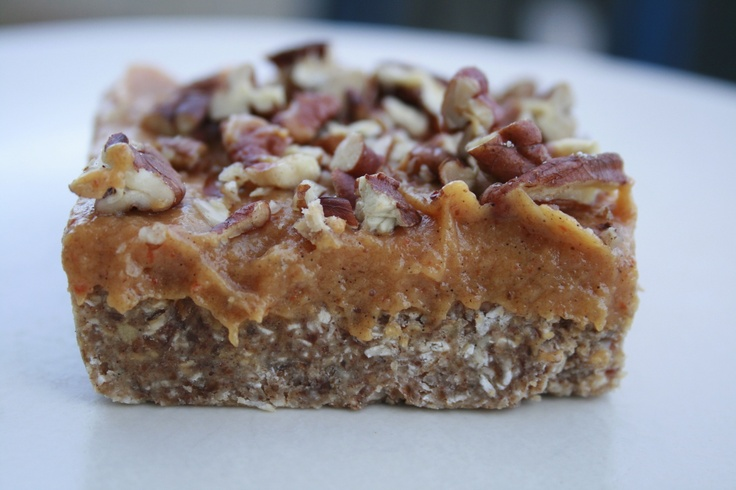 Raw Pecan Pie Bars | Edibles - Desserts | Pinterest
