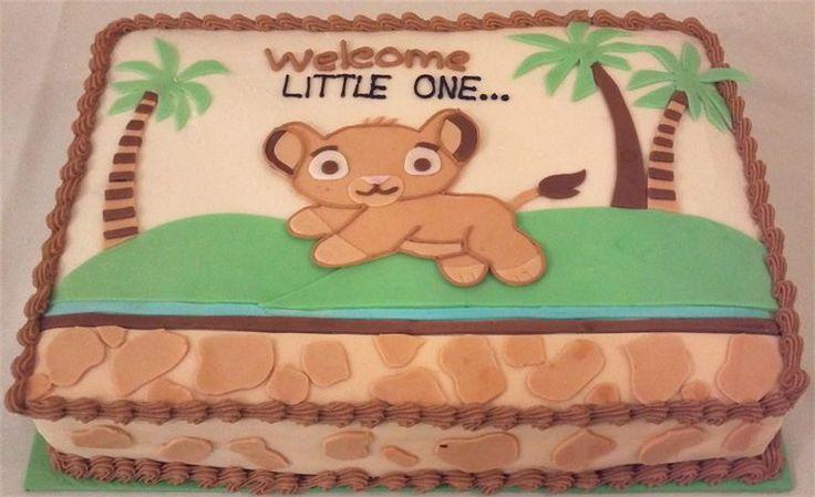 lion king baby shower sheet cake baby lion king sheet cake
