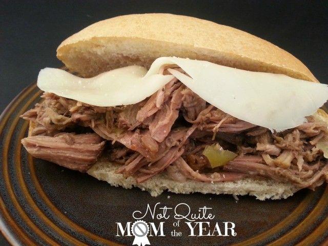 Slow Cooker Italian Beef Sandwiches   NOMZZZ   Pinterest