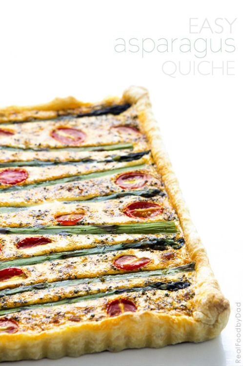 Ham And Asparagus Quiche - A Simple Savory Pie Recipe — Dishmaps