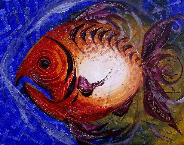Pin by j vincent scarpace artist on one fish two fish j for J and j fish