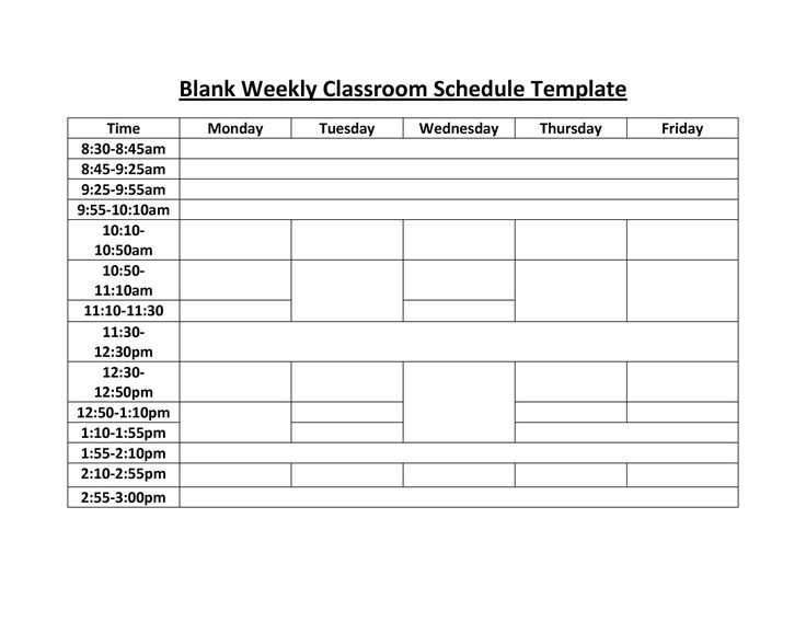 Weekly class schedule template trattorialeondoro weekly schedule template in excel maxwellsz