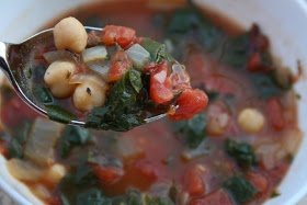 Will Work For Eskimo Kisses: Fire Roasted Tomato and Swiss Chard Soup