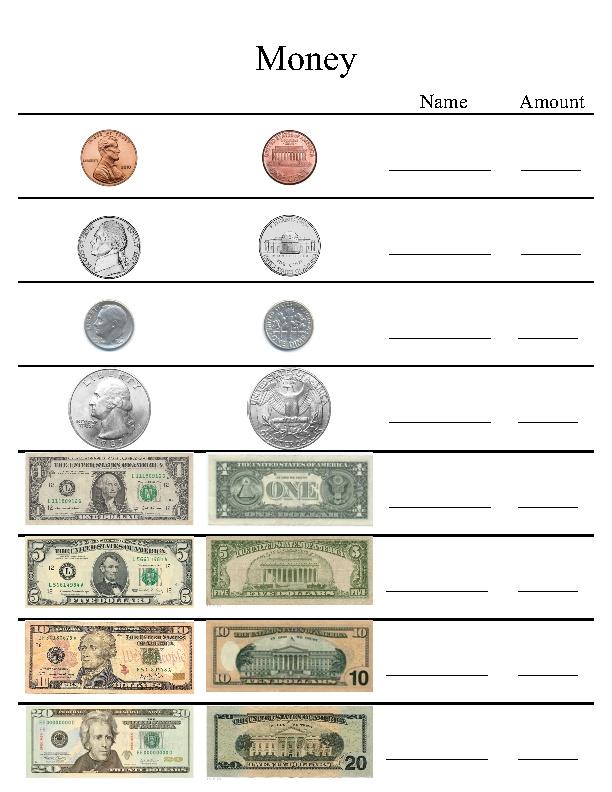Learning Money Worksheets : Us money worksheet learning activitys pinterest