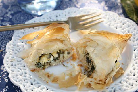 ... million tiny pies -- Spanakopita (Greek Spinach and Feta Pies