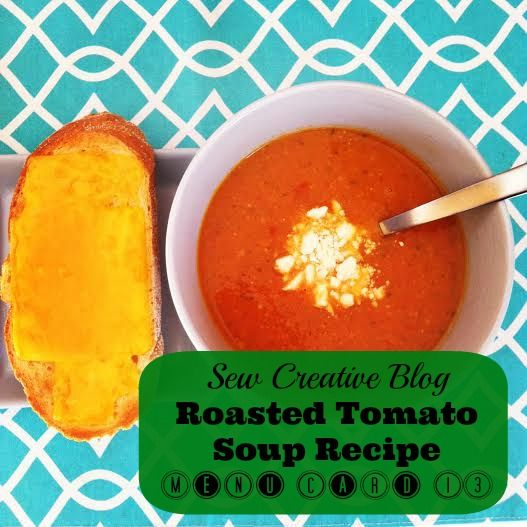 Yummy Roasted Tomato Soup and Open Faced Grilled Cheese Sandwiches ...