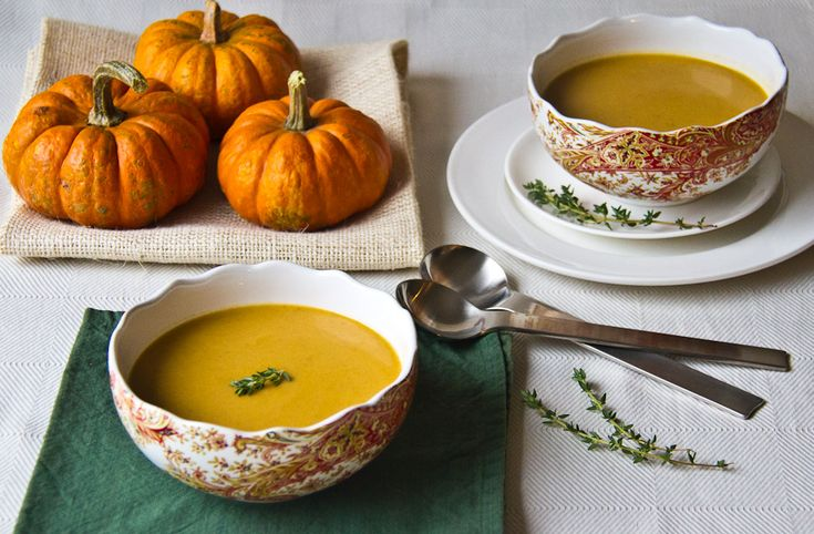 Roasted Pumpkin & Coconut Soup #Soup #Pumpkin