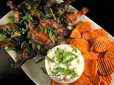 Marley's Chargrilled-Jerk Chicken with Creamy Cucumber Dipping Sauce ...