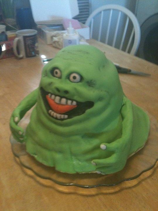 Slimer Cake I Love It Wish My Birthday Wasnt Over Fu