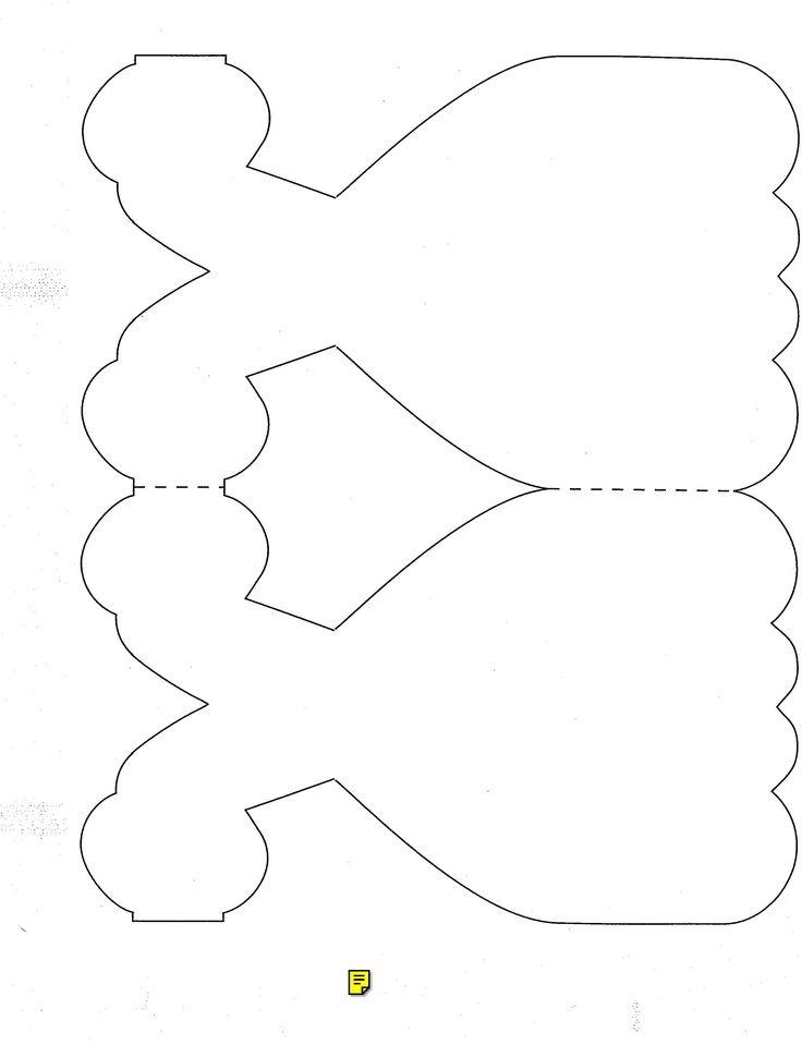 Открытка скрапбукинг платье шаблон 12