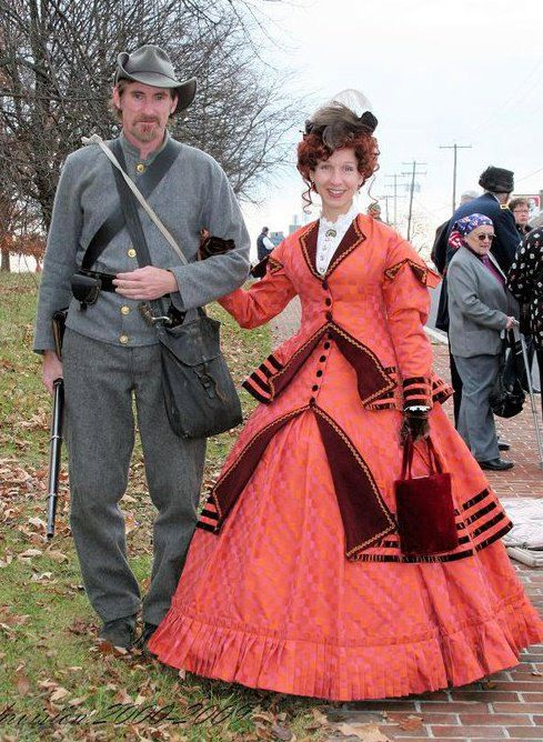 FOR ORDERS ONLY - 1800s Victorian Gown -1867 Walking Traveling Suit - 1860s Civil War Dress Skirt Jacket Bodice. $617.00, via Etsy.