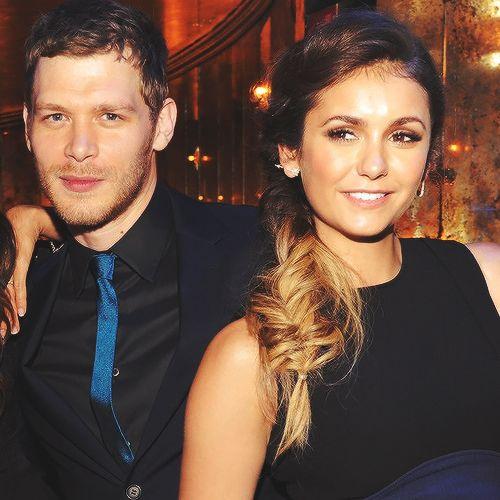 Joseph Morgan and Nina Dobrev at The CW Network's 2014 Upfront party ... Nina Dobrev And Joseph Morgan Manip