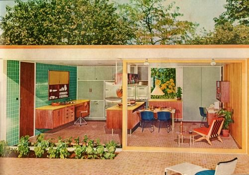 Mid century beach bungalow mid century modern pinterest for 1950 bungalow house plans