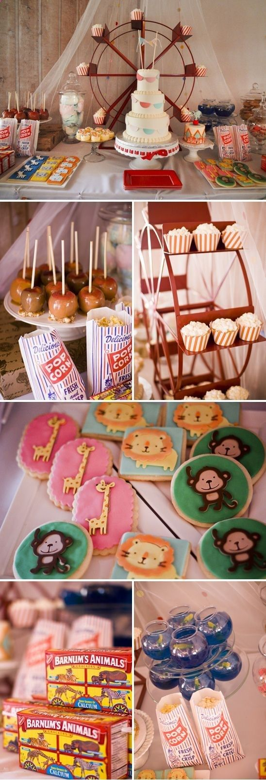 vintage circus baby shower theme baby shower ideas pinterest