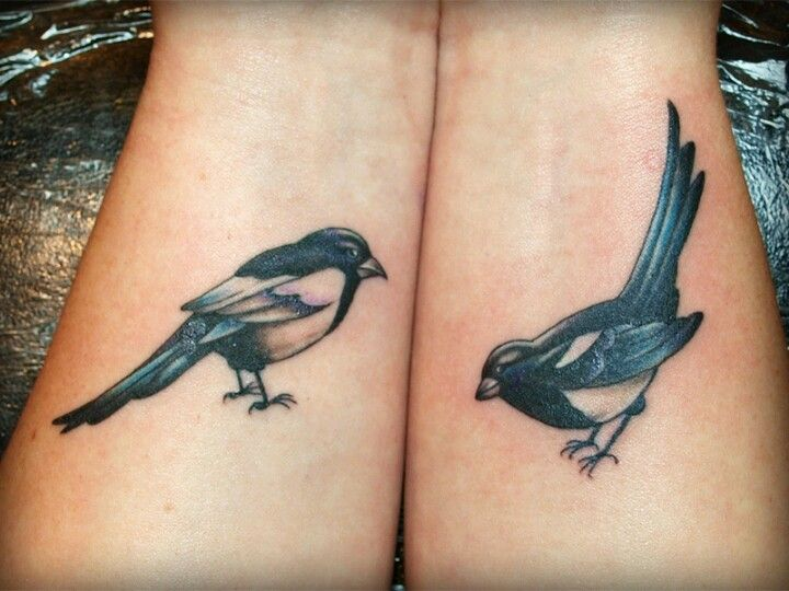 Traditional magpie tattoo - photo#12