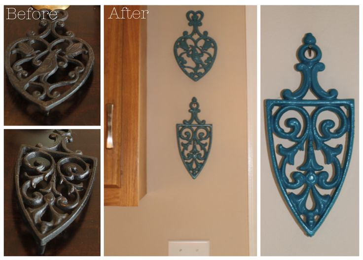 Re-purpose old trivets as wall decor! | Something to be Savored