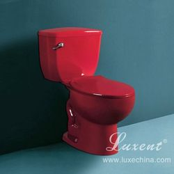 China Porcelain Bathroom Wine Red Colored Toilet - Buy Red ...