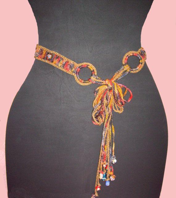 crocheted beaded belt pattern via pdf