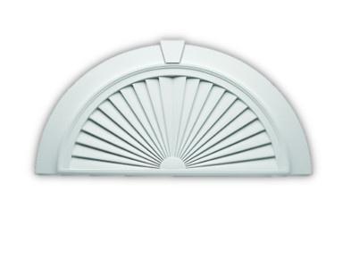 Sunburst pediments joy studio design gallery best design for Fypon window pediments