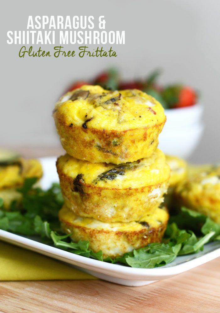 Asparagus and Shiitaki Mushroom Frittatas #GlutenFree via ...