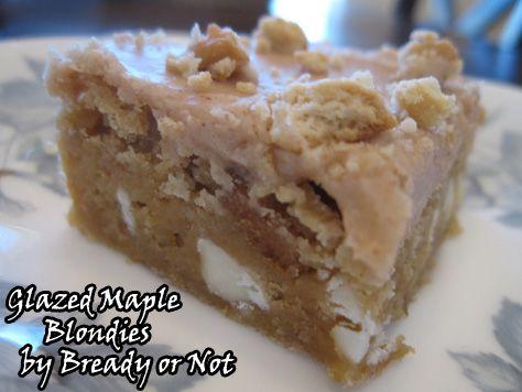 or Not: Glazed Maple Blondies   BethCato.com   Brownies, Blondies ...