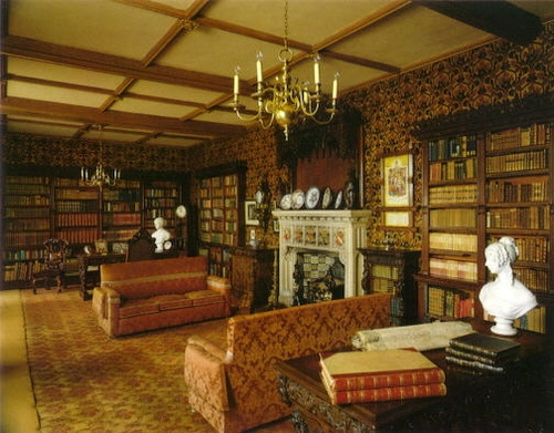 English Country House Library Libraries Pinterest