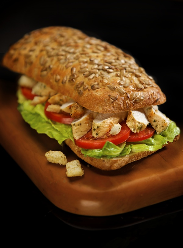 Grilled Chicken And Club Sandwich With Avocado And ...