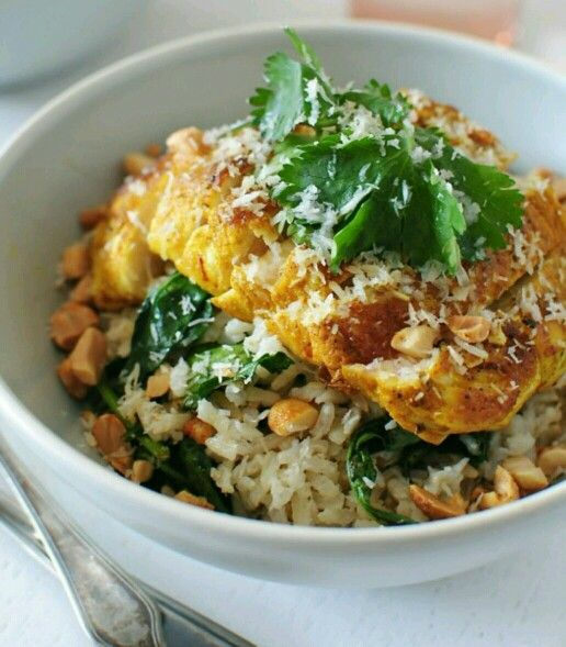 Indian chicken & coconut rice | Interesting | Pinterest