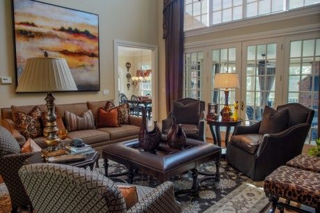 Gorgeous living room featuring huntington house upholstery by chris