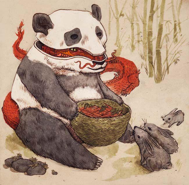 panda dragons