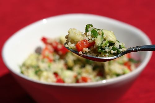 Salad. A perfect summer picnic salad - filled with healthy grains ...