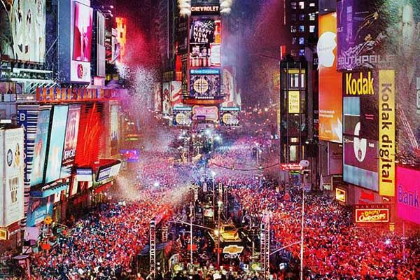 Times Square, New Years Eve.. i will be there one year. just wait.