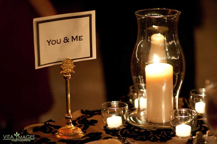 Love this place card for the bride and groom the bride created this