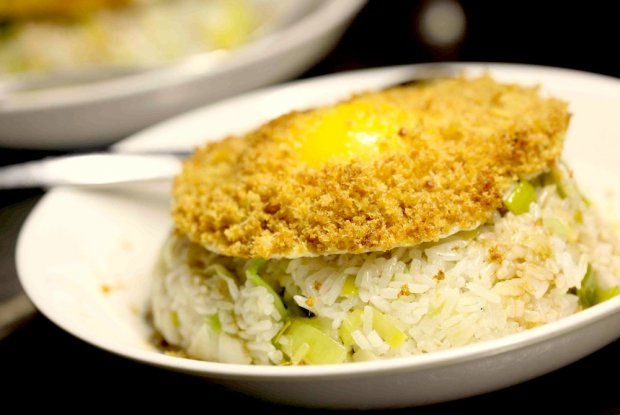 ginger fried rice: topped with garlic and ginger-crusted fried (dragon ...