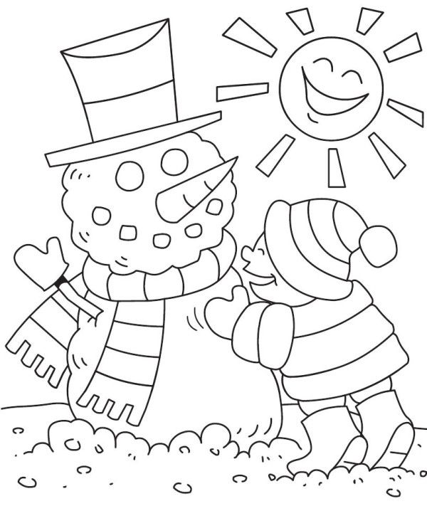 Preschool Winter Coloring Pages Snow And Snowmen Pinterest Winter Coloring Pages For Preschool