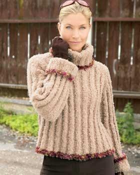 Boucle Knitting Patterns : KNITTING PATTERNS USING BERNAT SOFT BOUCLE   KNITTING PATTERN
