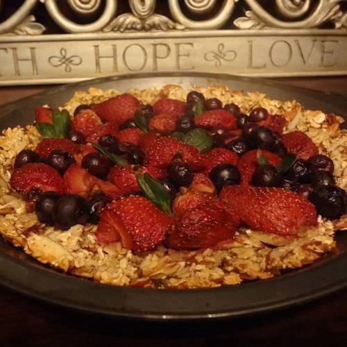 Strawberry Blueberry Pie with Oats Almond Crust | Made Just Right by ...
