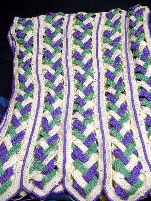 Crochet Afghan Patterns Mile A Minute : Braided Miles Afghan by Diana B. Husband CROCHET Pinterest