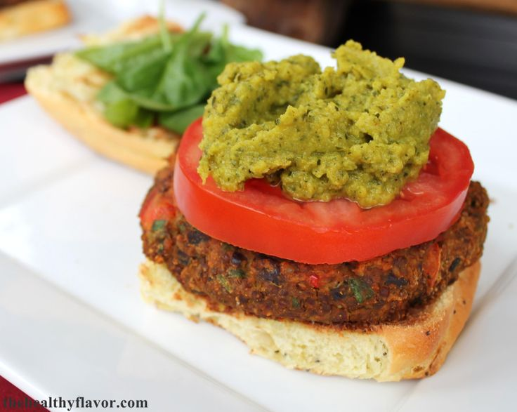 Curry Spiced Veggie Burger (Soy-Free, Oil-Free, Gluten-free option)