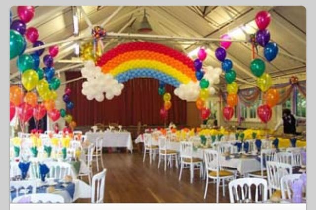 Balloon arch rainbow girl scouts pinterest for How to make a rainbow arch